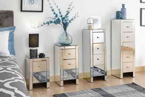Groupon Goods Global GmbH - One or Two Sophia Mirrored Bedside Chests in Choice of Option With Free Delivery - Save 0%