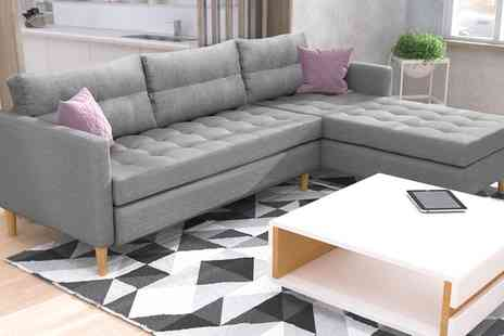 Groupon Goods Global GmbH - Copenhagen Corner Sofa with Ottoman Storage Footstool With Free Delivery - Save 0%