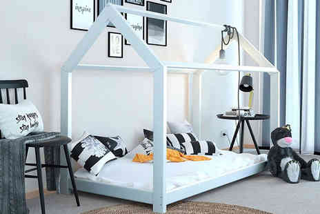 Sale Bed - Treehouse wooden bed choose between two colours - Save 61%