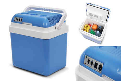 Who Needs Shops - 24L electric portable cool box - Save 74%
