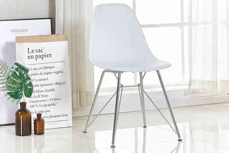 P & N Homewares - Juliet single, two or four chairs choose from four colours - Save 36%