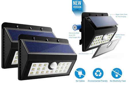 ViVo Technologies - Two LED motion sensor solar lights - Save 56%