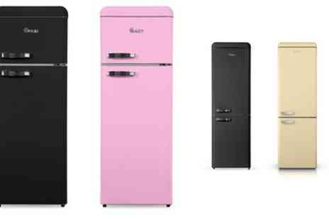Groupon Goods Global GmbH - Swan Top Mounted or Retro Fridge Freezer With Free Delivery - Save 27%
