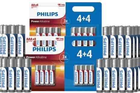 Groupon Goods Global GmbH - Phillips Ultra Alkaline AAA LR03 or AA LR6 Batteries - Save 50%