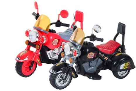 Groupon Goods Global GmbH - HomCom Childrens Electric Ride On Retro Toy Motorbike With Free Delivery - Save 47%