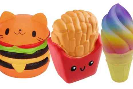 Groupon Goods Global GmbH - Set of Three Fast Food Jumbo Slow Rise Squishies - Save 55%