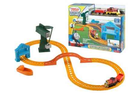 Groupon Goods Global GmbH - Fisher Price Thomas & Friends Collectible Railway Salty & Crankys Cargo Drop Playset - Save 23%