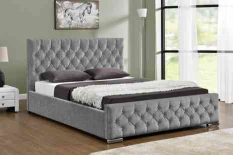 Groupon Goods Global GmbH - Chenille or Velvet Ottoman Bed with Optional Mattress With Free Delivery - Save 46%