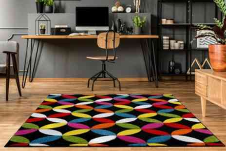 Groupon Goods Global GmbH - Multi Brights Colour Carved Floor Rugs in Choice of Colour and Size - Save 63%