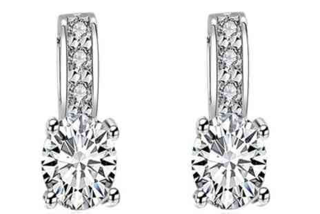 Groupon Goods Global GmbH - One or Two Pairs of Faux Diamond Statement Earrings - Save 83%