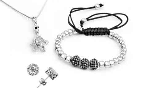 Groupon Goods Global GmbH - Turtle Pendant, Crown Earrings and Karma Bracelet Set - Save 86%