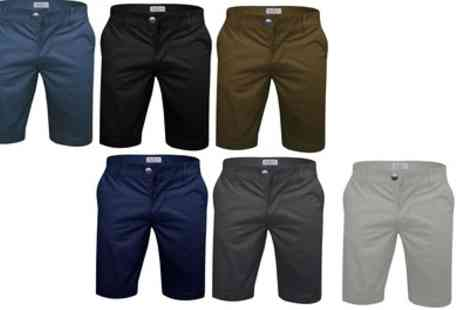 Groupon Goods Global GmbH - Stallion Mens Stretch Chino Shorts in Choice of Colour - Save 66%