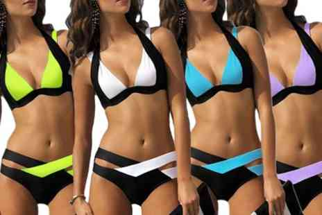Groupon Goods Global GmbH - One or Two Colour Block Bikinis - Save 0%