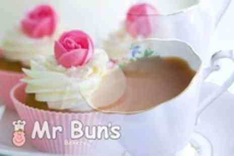 Mr Bun's Bakery - Cupcake With Tea or Coffee For Two People - Save 57%