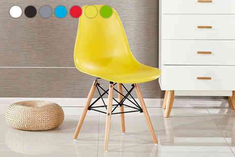 P & N Homewares - One, two or four Moda Eiffel chair choose from seven colours - Save 55%