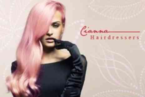 Cianna Hairdressers - Half Head Highlights or Full Head Tint or Colour Plus Cut and Blow Dry - Save 68%