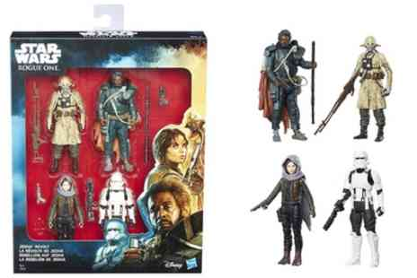 Groupon Goods Global GmbH - Pack of Four Hasbro Star Wars Rogue One Jedha Revolt Figurines - Save 40%