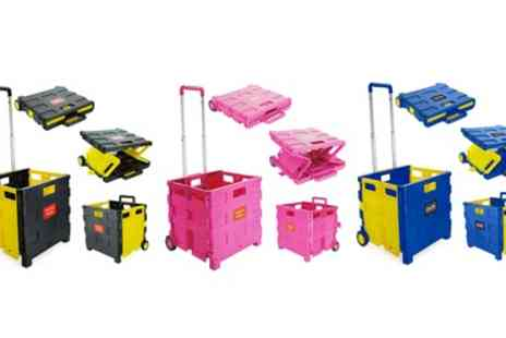 Groupon Goods Global GmbH - Foldable Storage Cart Trolley in Choice of Colour - Save 77%