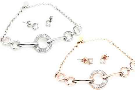 Groupon Goods Global GmbH - One or Two Mila Bracelet and Earring Sets - Save 90%