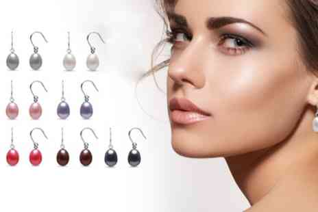 Groupon Goods Global GmbH - Seven Pairs of Freshwater Pearl Earrings - Save 90%