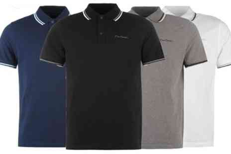 Groupon Goods Global GmbH - One or Two Pierre Cardin Mens Tipped Polo Shirts - Save 0%