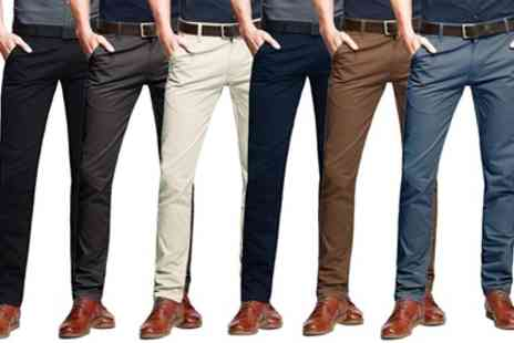 Groupon Goods Global GmbH - Stallion Mens Chino Trousers - Save 65%