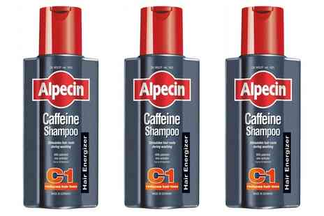 Groupon Goods Global GmbH - Three or Six Alpecin Caffeine C1 Shampoos 250ml - Save 0%