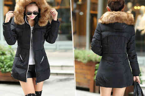 Marcus Emporium - Faux Fur Hooded Puffer Parka Available in 3 Colours - Save 80%