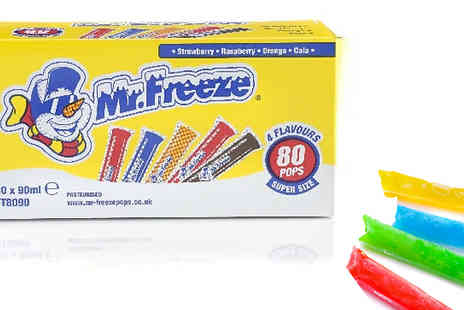 Home Season - Mr Freeze Ice Pop Lollies Pack of 80 - Save 83%