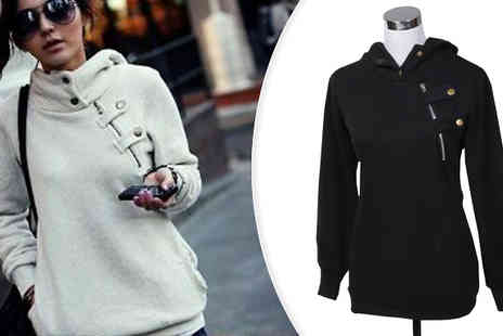 Marcus Emporium - Staple Winter Hoodie With Zip Detail Available in 3 Colours - Save 70%