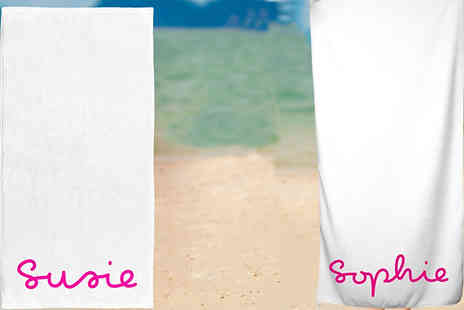 Personalised Gifts Market - Personalised Love Island Inspired Towel Choose 2 Sizes - Save 68%