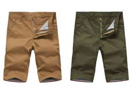 Marcus Emporium - Mens Chino Shorts Choose 4 Colours - Save 68%