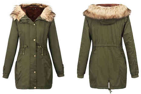Marcus Emporium - Fleece Lined Faux Fur Parka Choose 2 Colours - Save 78%