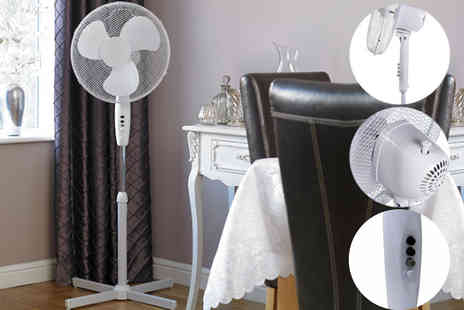 Who Needs Shops - 16 inch oscillating pedestal electric fan - Save 74%