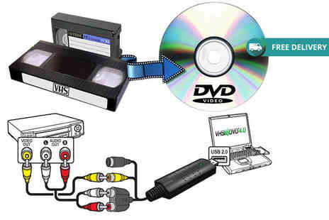 Ugoagogo - USB VHS to DVD converter with video editing software - Save 68%