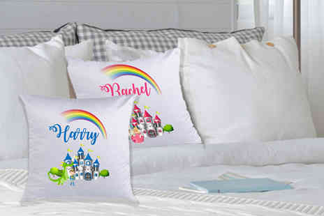 Deco Matters - One personalised kids cushion cover choose from two designs - Save 79%