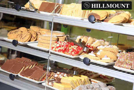 Hillmount Garden Centre - Cup of tea or coffee for two people with a tray bake each - Save 75%