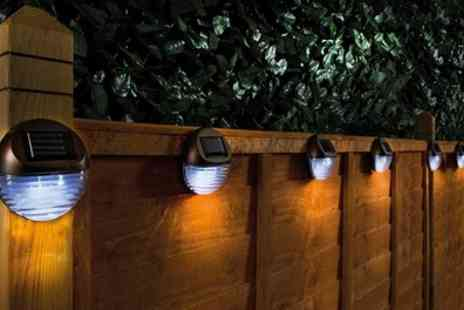 Groupon Goods Global GmbH - Two, Four, Six or Eight Solar Fence Lights - Save 52%