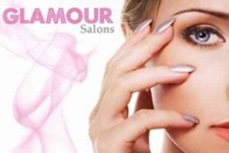 Glamour Salons - Hot Mitt Manicure With Gel Overlays - Save 72%