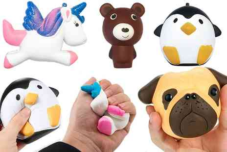 Groupon Goods Global GmbH - Three or Four Slow Rising Giant Animal Squishy Toys - Save 0%