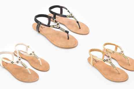Groupon Goods Global GmbH - Womens Diamante Sandals in Choice of Colour - Save 0%