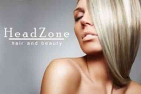 HeadZone Hair and Beauty - Half Head Highlights With Cut and Finish Plus Moroccanil Treatment - Save 65%