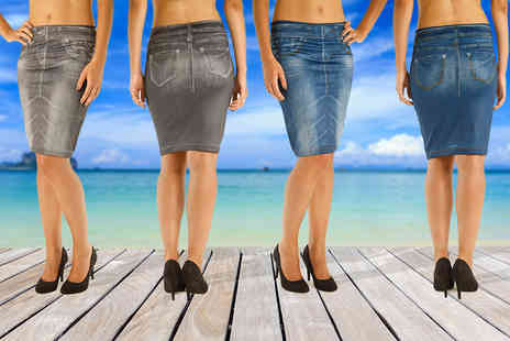 SARL Blue Skys - Two pack of denim effect slimming skirts - Save 71%