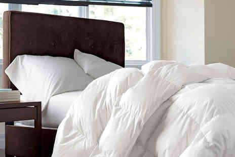 Direct Warehouse - Single duck feather and down bedding bundle - Save 52%