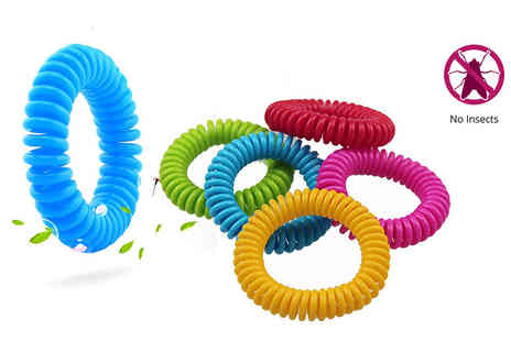Nitaar - Five, 10 or 20 mosquito repellent spiral braceles - Save 69%