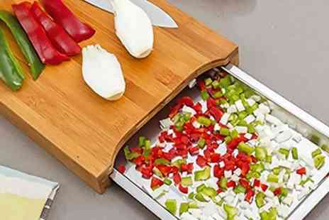 Groupon Goods Global GmbH - Bamboo Chopping Board with Stainless Steel Tray - Save 75%