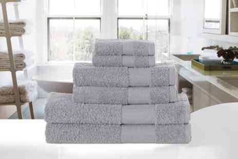 Groupon Goods Global GmbH - Six Piece Egyptian Cotton Towel Bale in Choice of Colour - Save 63%