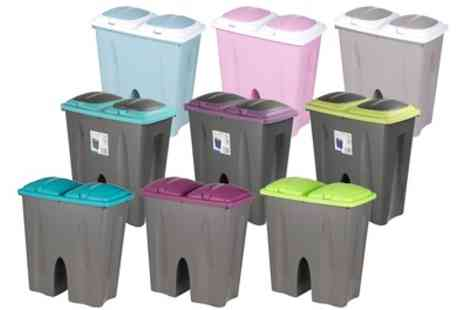 Groupon Goods Global GmbH - 50L Double Recycling Waste Bins in Choice of Colour - Save 0%