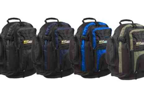 Groupon Goods Global GmbH - Mig Travel Backpack in a Choice of Colour - Save 0%