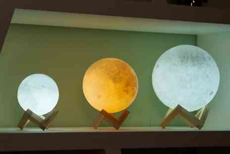 Groupon Goods Global GmbH - Globrite Touch Control LED 3D Moon Lamp - Save 75%